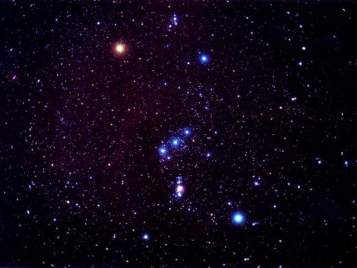 This is what the constellation Orion looks like in the sky.