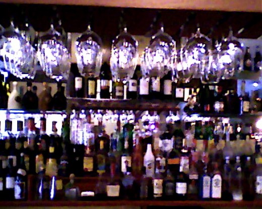 The bar at Lavender Asian Bistro.