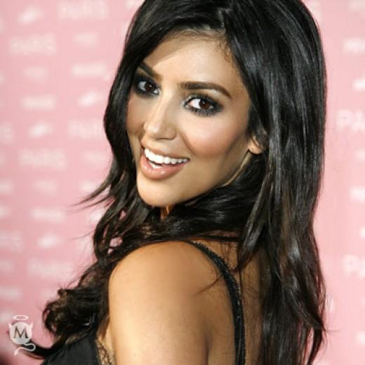 Kim Kardashian's gorgeous smile.