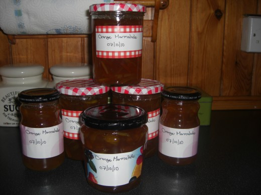 the finished marmalade