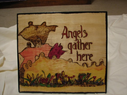 Plywood can be woodburned for signs and other designs