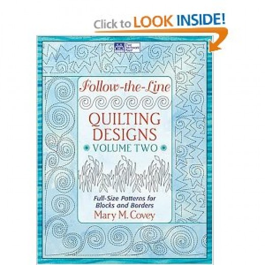 Follow-the-Line Quilting Designs, Vol. 2: Full-Size Patterns for Blocks and Borders [Paperback] By Mary M. Covey