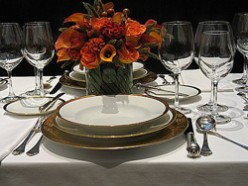 Russian Table Service for Formal Luncheon and Dinners