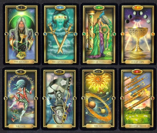 Black Tarot Cards