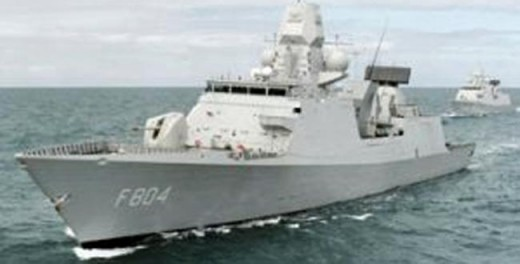 Dutch Frigate near Somalian Waters