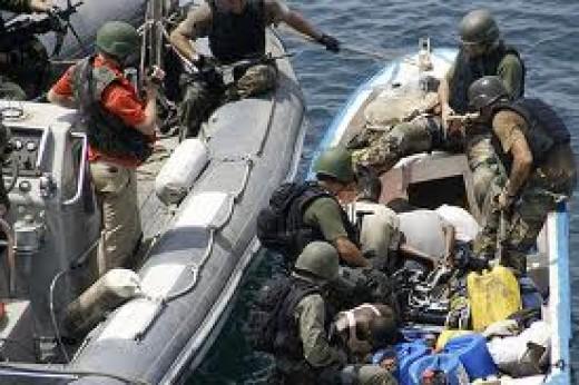 Turkish Troops capture pirates