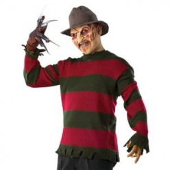Freddy Krueger Halloween Costume - Full Freddy Krueger Masks and Gloves - Express Shipping