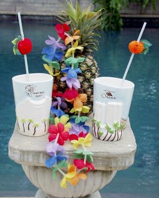 Customized Hotel Mugs in Hawaiian Style