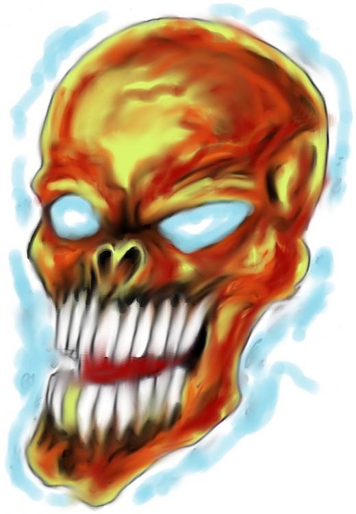 Pushing the boundaries of design. Skull concept image copyright Wayne Tully 2010 - 2020