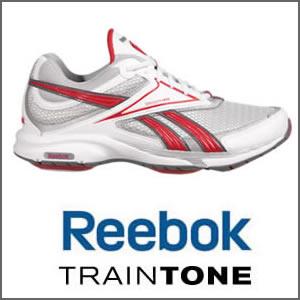 Reebok Traintone Slimm in Red & White