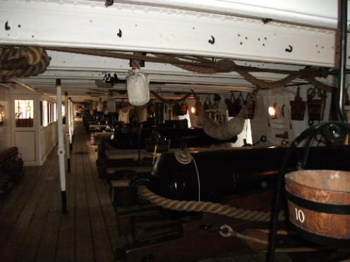 Inside the vessel