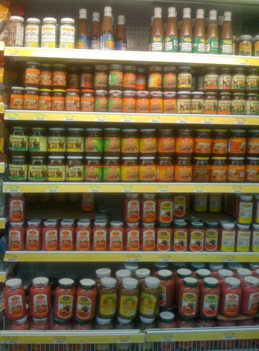 There are many types of bagoong. This is photo that I took of a few bagoong varieties. This was at a Filipino Store in Los Angeles CA