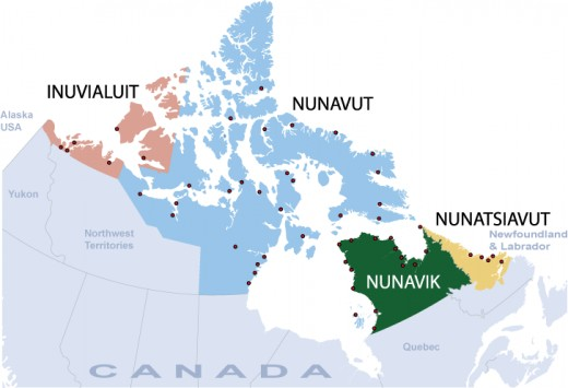 In Canada, the Inuit were distributed as shown and many still live here and cling to the old ways that have proven themselves for tens of thousands of years. Hence their tenacity.