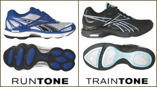 Reebok RunTone for running and TrainTone Slimm for the gym