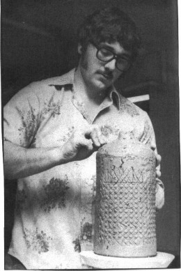 One of his first vases while in college
