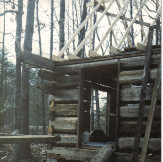 This is the Cabin Structure that he built