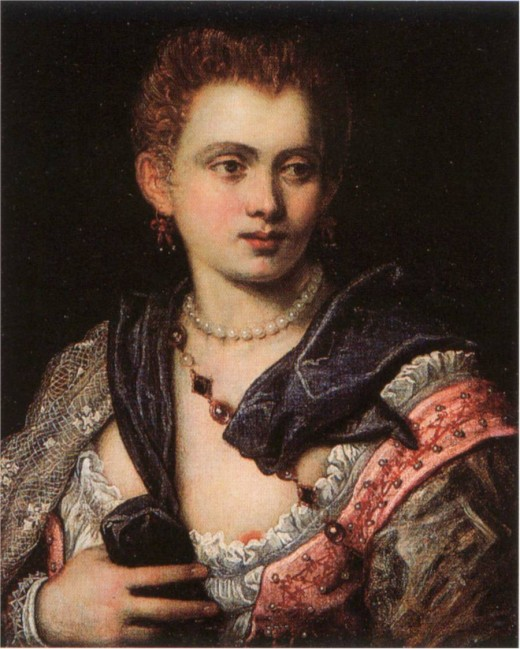 Portrait of Veronica Franco by Paolo Vernese. Image from Wikipedia
