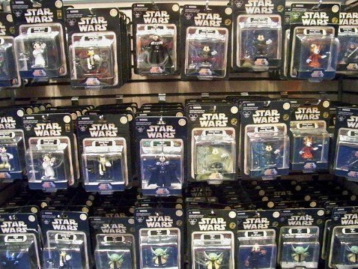 Disney Star Wars action toys.
