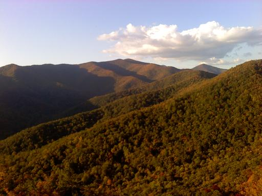 View from Lookout Mountain in Montreat, NC