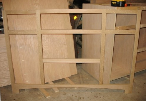 This is an example of a Face Frame cabinet