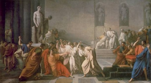 The assassination of Julius Caesar. His arrogance meant he didn't heed the warnings.