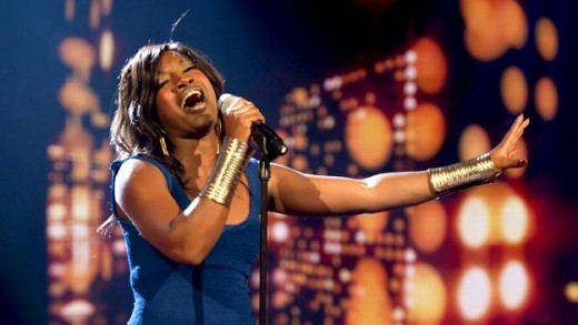 Treyc Cohen singing U2 song one on Saturdays 1st live X factor 2010 show