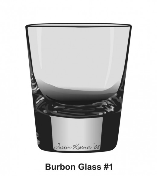 Justins' first vector-A bourbon glass (supplied by his father :-)
