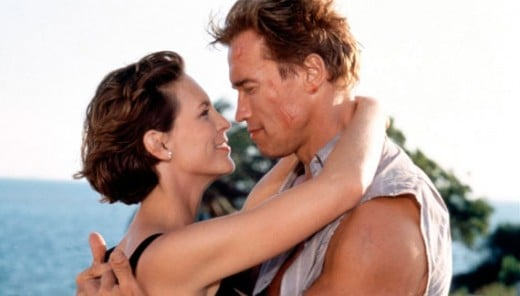 Jamie Lee Curtis and Arnold Schwarzenegger in True Lies