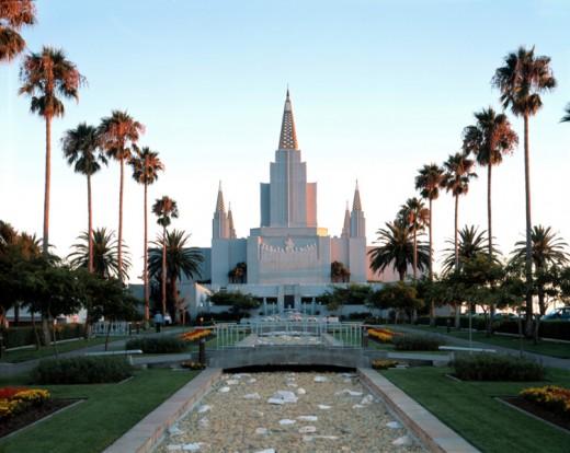 Mormon Temple in Oakland, California