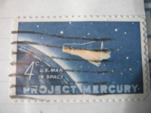 A project Mercury four cent stamp