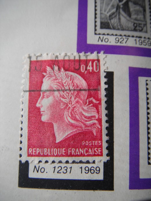 A French stamp