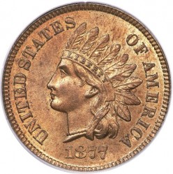 The very valuable 1877 Indian Head Cent
