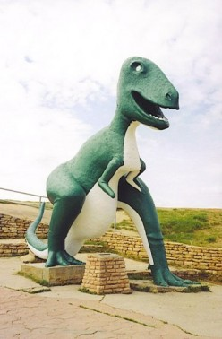 Roadside Cement Dinosaurs May Attract Asteroids