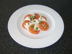 Tomato, Basil and Mozzarella Cheese Appetizer