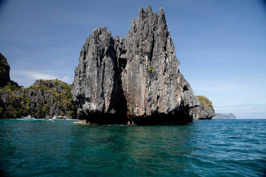 Rock formations in Palawan