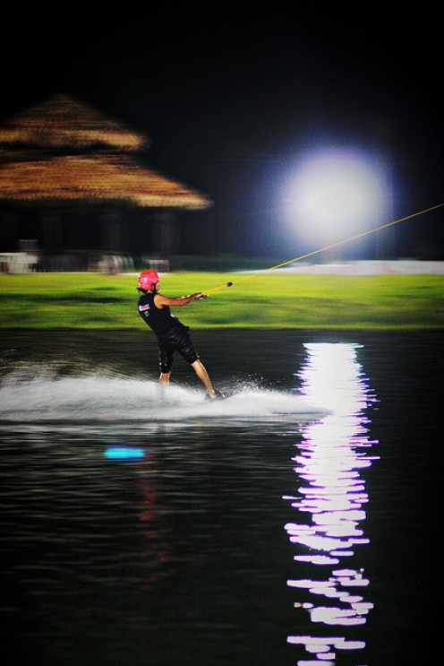 Night Wakeboarding at CamSur