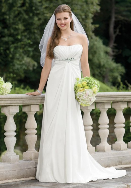 """The """"empire"""" gown...  Photo: Alfred Angelo"""