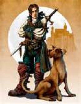 Your faithful companion throughout Fable 2.  He is just a mutt and his appearance changes slightly depending on your actions.  New downloadable content for Fable 2 lets you change the breed of the dog to Dalmation, Husky  or Beagle.