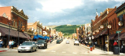 Street scene in Cripple Creek