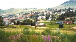 View of Cripple Creek from the hillside above.