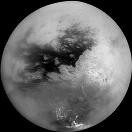 Titan, a Moon of Saturn, as seen from Cassini