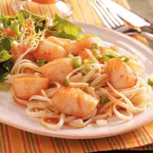 Seafood and Pasta are a great pair together and with a nice hint of garlic you have a very tasty meal.