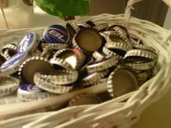 Preparing Used Bottle Caps to Make Pendants