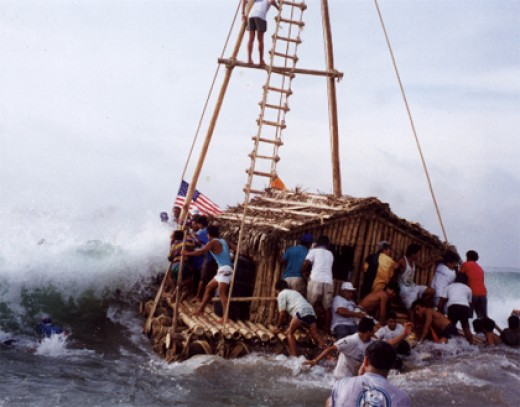 This is similar to the raft I built in Fiji.