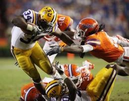 LSU beat Florida in Gainesville last week 33-29.