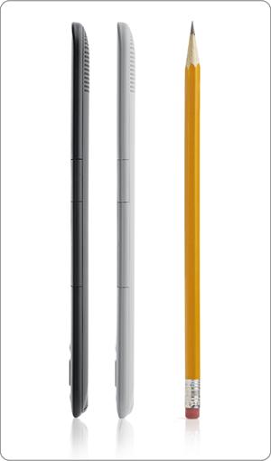 Slim new design compared to a pencil