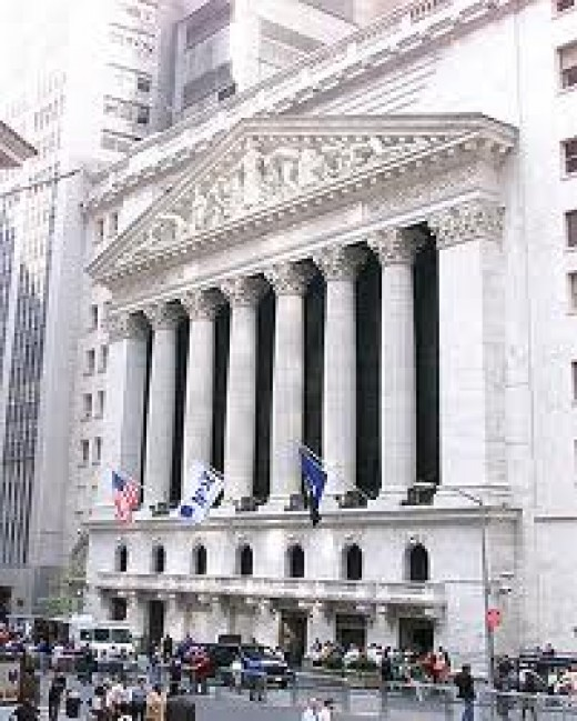 New York Stock Exchange. The Holy Place.