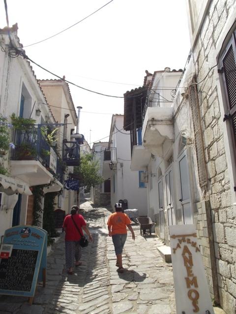 Skiathos - small Mediterranean street