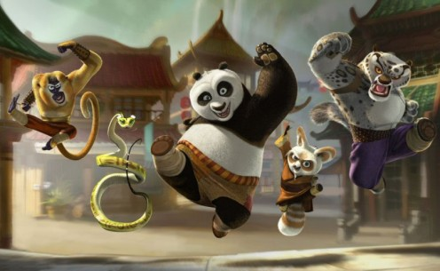 Po leads the pack at Kung Fu Panda