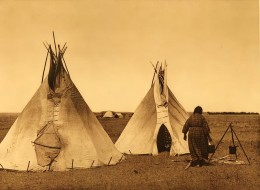 Plains First Nations lived in easily transported, but sheltering teepees. Before the horse, they tended to be smaller. When horse became available, larger structures could be transported. Horses also transformed the bison hunt.
